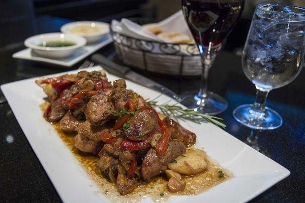 Chef Peter Curcio's chicken scarpariello, on the bone