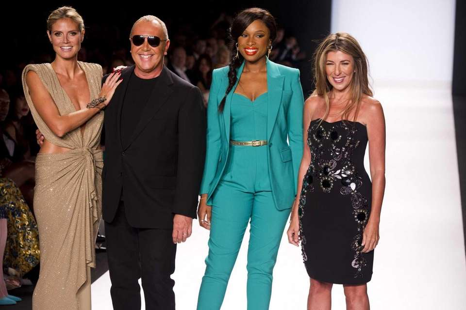 TV host Heidi Klum, from left, designer Michael