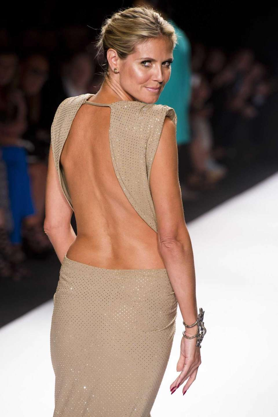 Heidi Klum poses on the runway at the