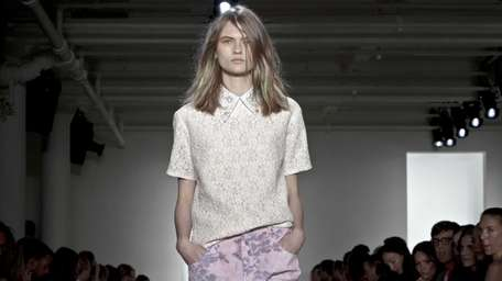 Fashion from Peter Som's Spring 2013 collection included