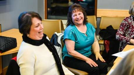 Susan Ruffini of Riverhead, left, and Jane Alworth-Menta