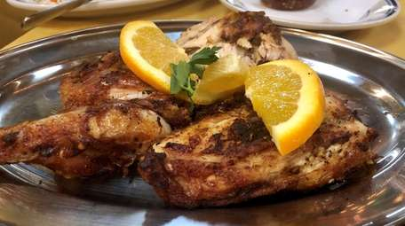 Charcoal-grilled chicken is the main event at Casa