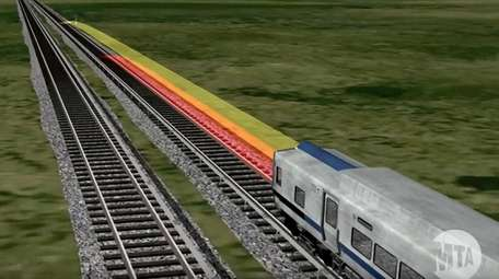 Positive Train Control technology uses antennas on trains