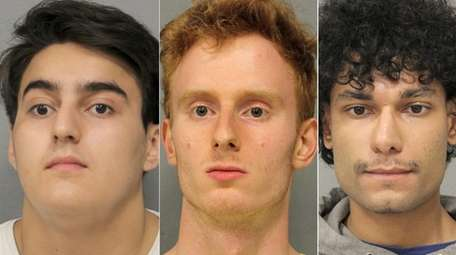 Anthony Moran, 20, Matthew Moore, 22, and Ahmad