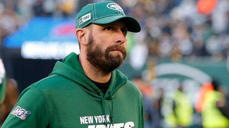 Jets head coach Adam Gase  walks off