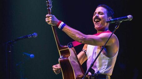 Joseph Russo performs as Freddie Mercury in the