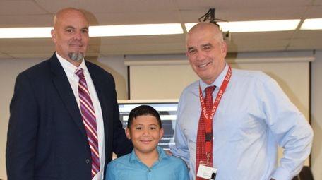 Oliver Rivadeneyra, a fifth-grader at Ruth C. Kinney