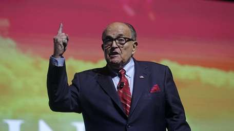 Rudy Giuliani, President Donald Trump's personal lawyer, at