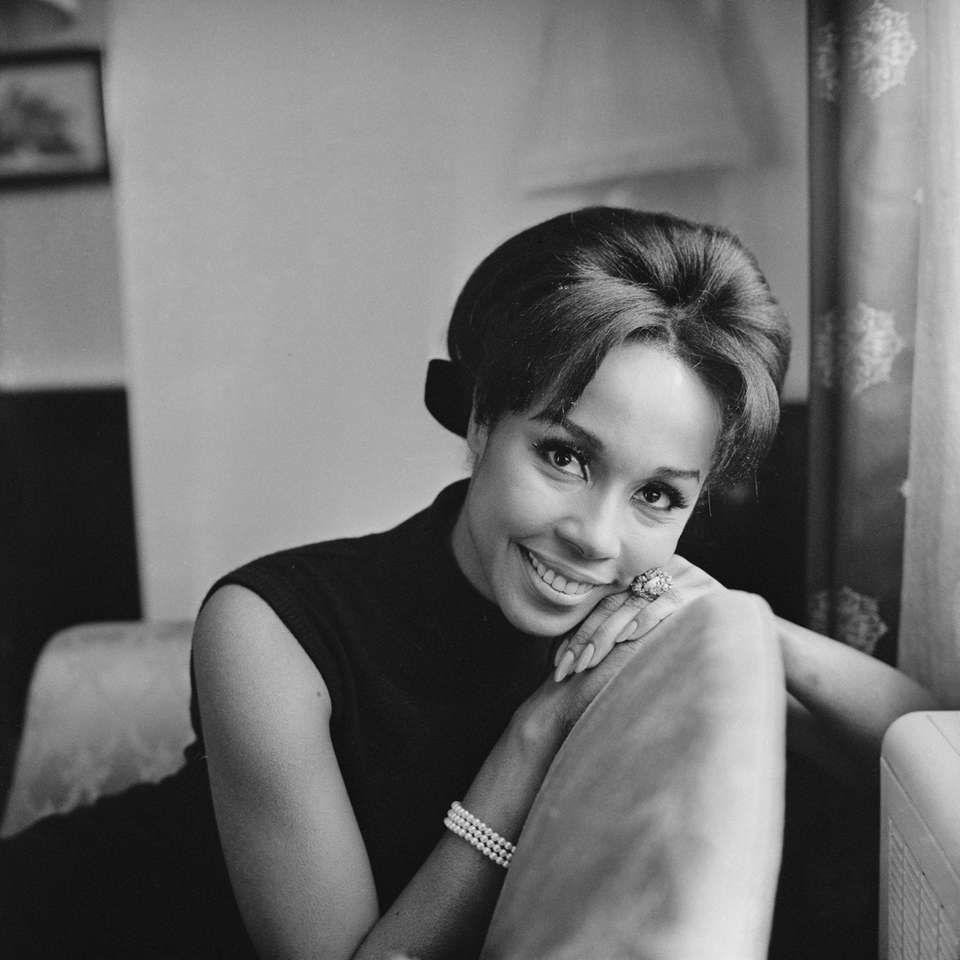 American actress, singer and fashion model Diahann Carroll,