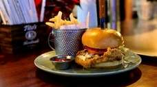 The pickle-brined fried-chicken sandwich at Culture Fine Food