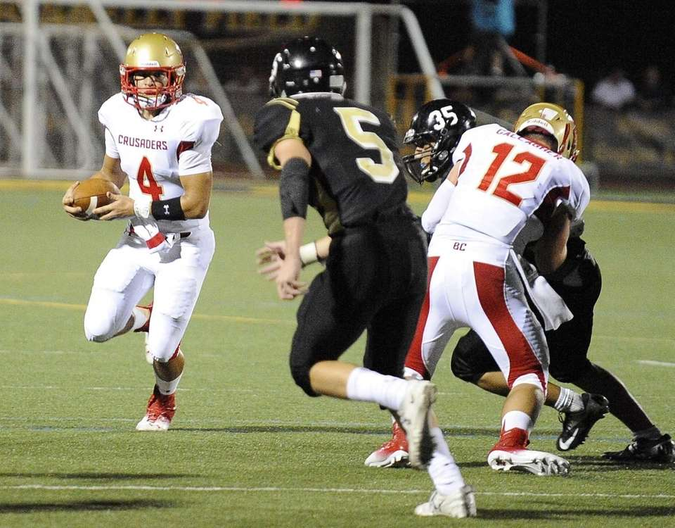 Bergen Catholic quarterback Jonathan Germano carries the ball