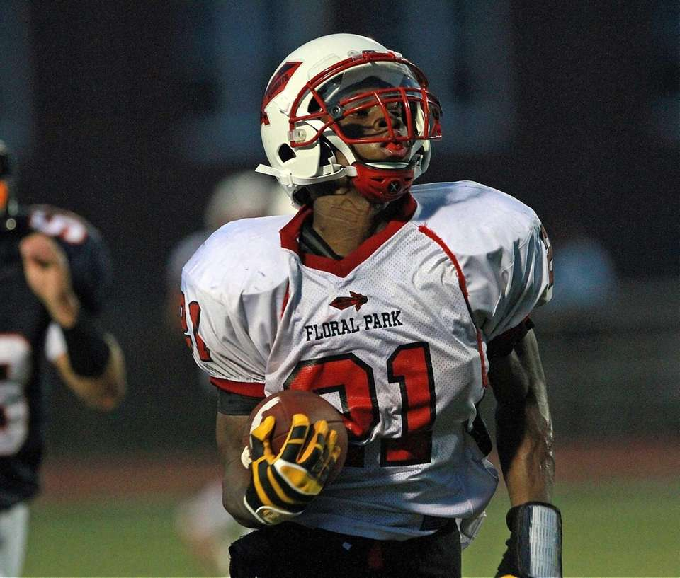 All by himself is Floral Park's Ronnell Jones