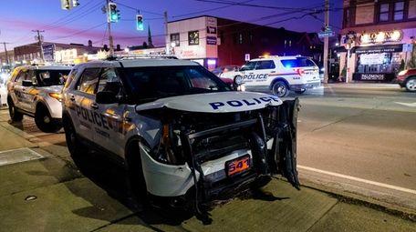 Nassau police said a department SUV struck the