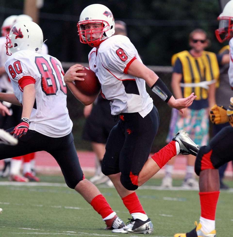 A long run by Floral Park's quarterback Connor