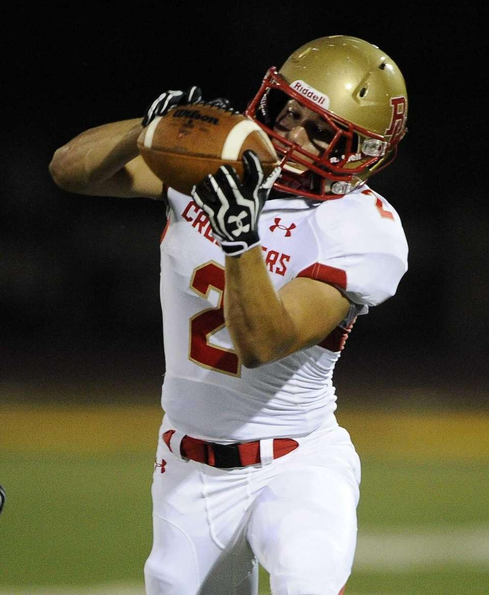 Bergen Catholic's John Feaster makes the catch and