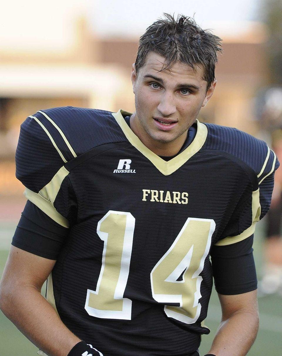 St. Anthony's quarterback Greg Galligan is seen on