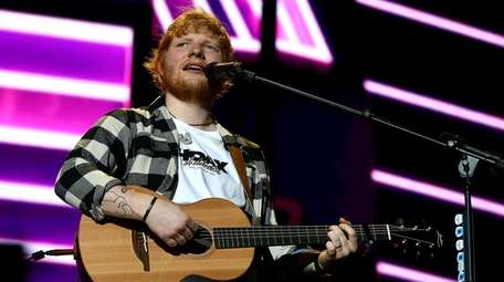 Ed Sheeran performs on the opening night of