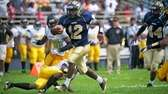 Baldwin running back Jovaun Tomlinson breaks past the