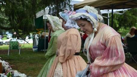 Among those doing re-enactment during the Brookhaven Country