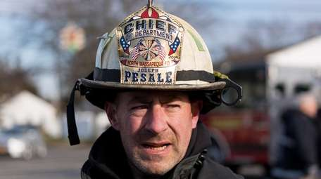 North Massapequa Fire Department Chief Joseph Pesale speaks