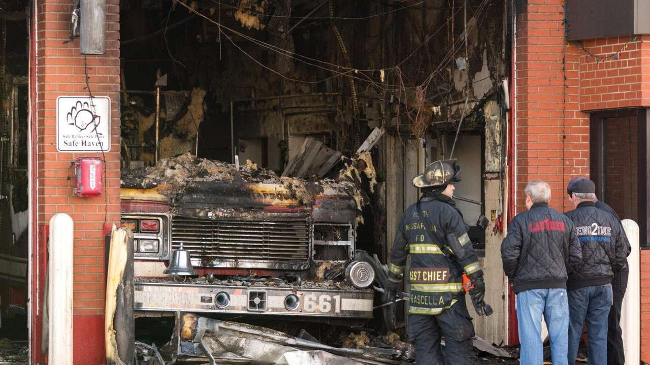A Christmas morning fire severely damaged a North
