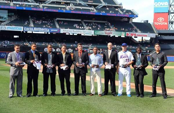New York Mets Sterling Award winners (L-R) Vincente