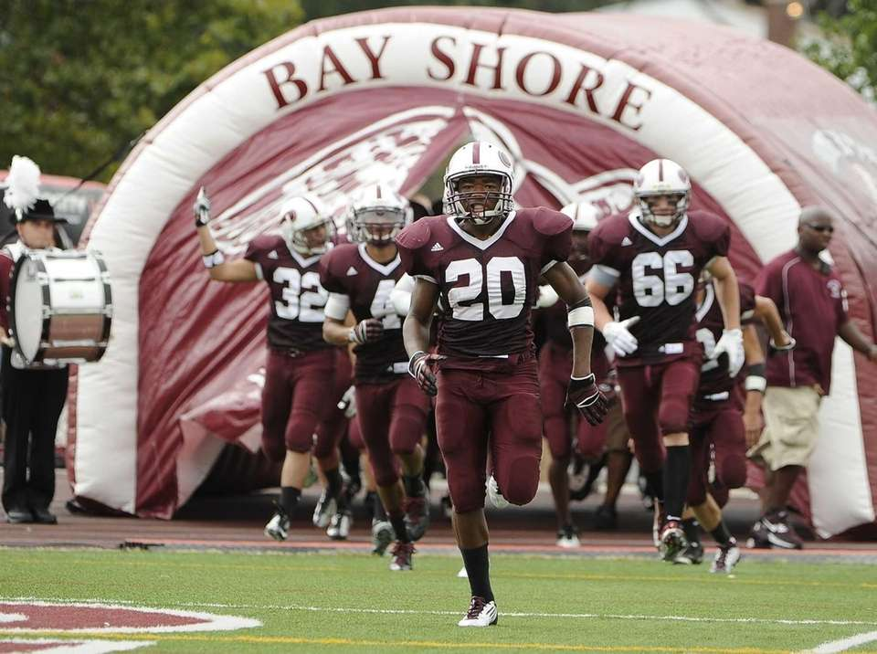 Bay Shore's football team takes the field against