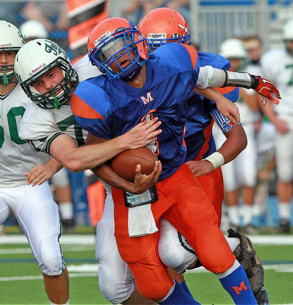 Solid hit put on Malvern's QB Jamal Aaron