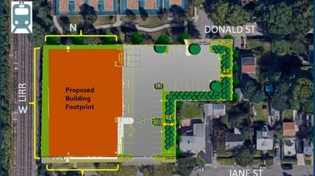 The site plan calls for replacing the one-story