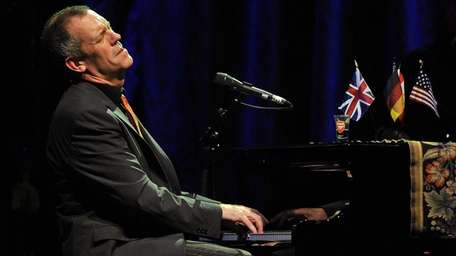 British singer and actor Hugh Laurie performs on