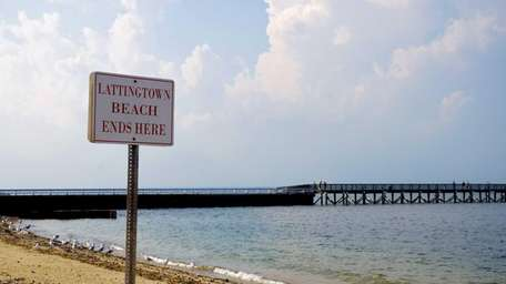 Lattingtown Beach is located at the end of
