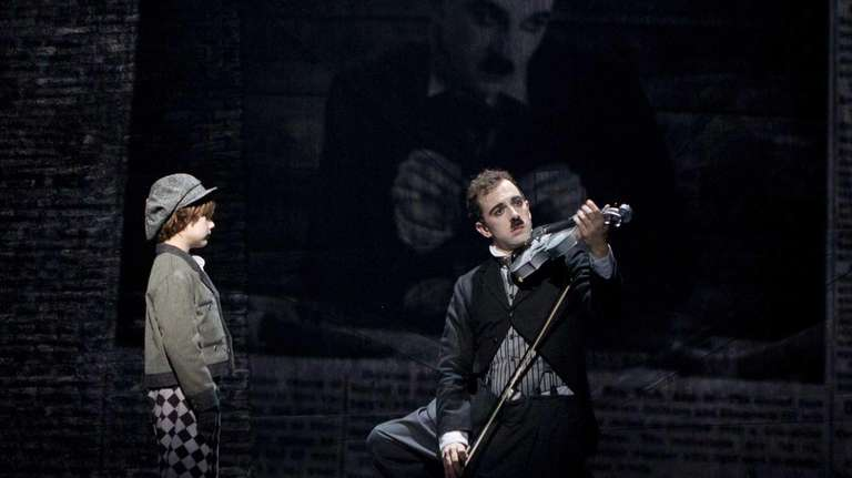 Zachary Unger as young Charlie Chaplain and Rob
