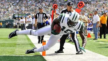 Santonio Holmes was ruled out of bounds on