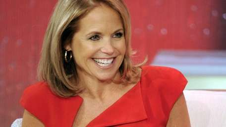 Host Katie Couric during a taping of her