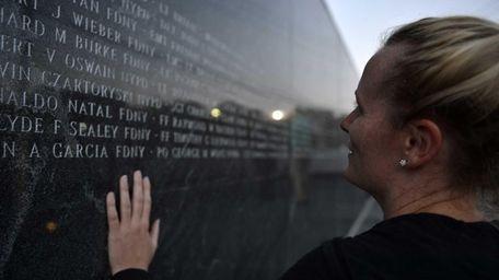 Melissa Colleluori of Bethpage at 9/11 Responders Park