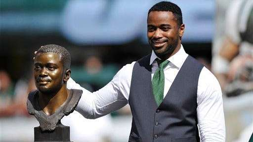 New York Jets' Curtis Martin poses with his