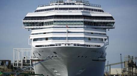 The Carnival Corp. cruise ship Carnival Valor is