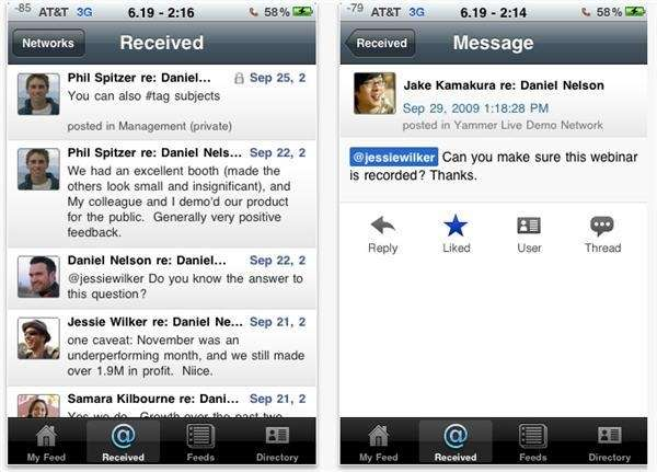 "Yammer bills itself as the ""social network for"