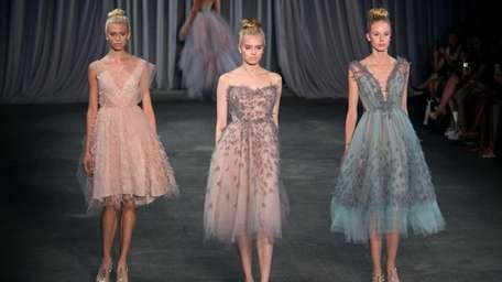 The finale of Christian Siriano's Spring 2013 show