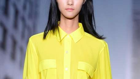 The color scape at the DKNY Spring/Summer 2013