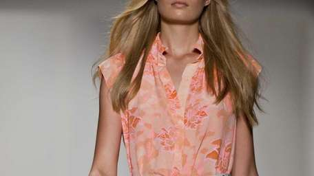 Designer Rebecca Taylor's Spring 2013 collection featured washed-out