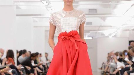 Designer Carmen Marc Valvo's Spring 2013 line has