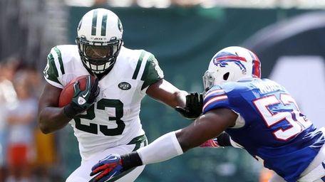 Shonn Greene #23 of the New York Jets