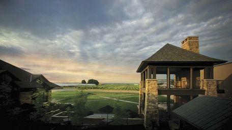 Trius Winery at Hillebrand's backyard vineyard and Winemaker's