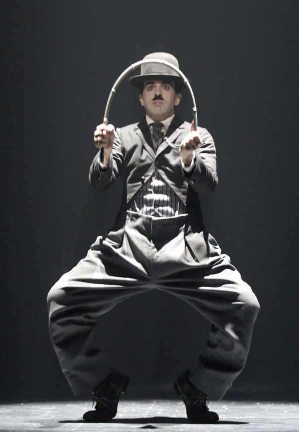 Rob McClure as Charlie Chaplin in quot; Chaplin