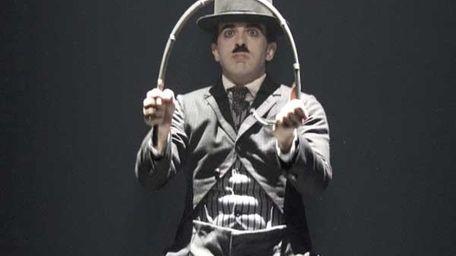 Rob McClure as Charlie Chaplin in