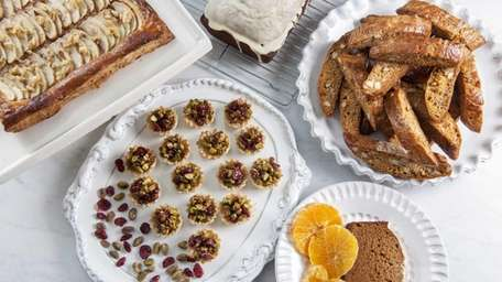 Honey-based recipes for Rosh Hashanah include (clockwise from