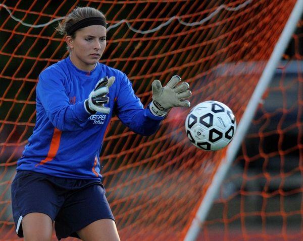 Cold Spring Harbor High School goalkeeper Stephanie Mahder