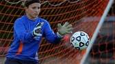 Cold Spring Harbor High School goalkeeper Stephanie Mahder
