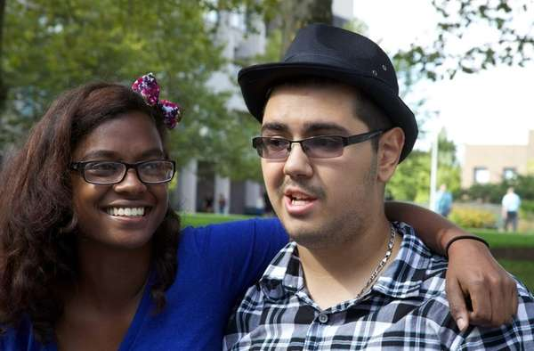 Alina LaTouche, 21, and Juan Martinez, 18, both